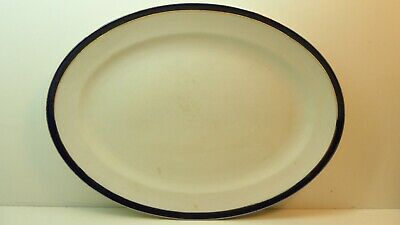 Imperial Porcelain English Oval Meat Plate Blue  Gilt Antique Victorian Platter