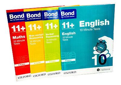 Bond 11+ Maths English Verbal Reasoning 10 Minute Test For Age 8-9 years
