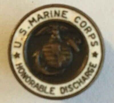 Vintage US MARINE CORPS Honorable Discharge Buttonhole Military Pin