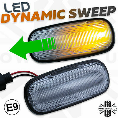 Dynamic sweep LED Side Repeater wing indicator lamp fits Freelander 1 lamp bulb