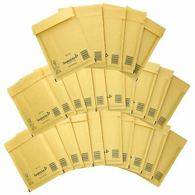 25 Pack Padded Mail Bags Envelopes Gold Mail Lite 150mm x 210mm C/0
