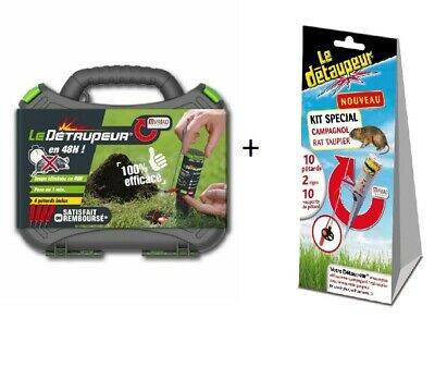 COFFRET LE DETAUPEUR + 4 PETARDS taupes taupe + KIT ANTI CAMPAGNOL rat taupier