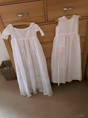 Antique Baby Gown And Underslip Needs Tlc