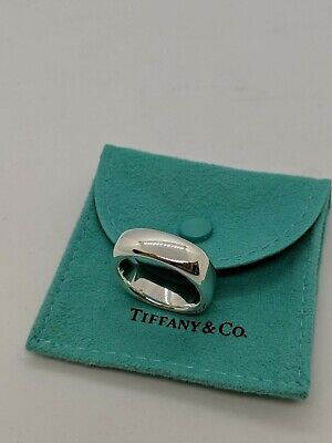 4fd3d18c4 2003 TIFFANY & Co 925 STERLING SILVER SQUARE CUSHION RING SIZE 6.25 ...