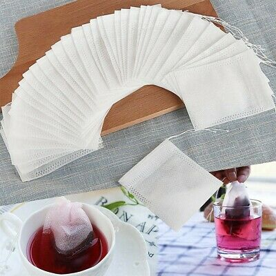 100Pcs/Lot Teabags 7 x 9CM Empty Scented Tea Bags With String Heal Seal Filter