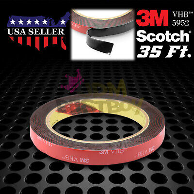 Genuine 3M VHB #5952 Double-Sided Mounting Foam Tape Automotive Car 12mm x 35FT