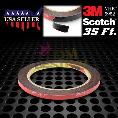 6mm x 35FT Genuine 3M VHB #5952 Double-Sided Mounting Tape Acrylic Foam Adhesive