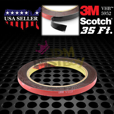 8mm x 35FT Genuine 3M VHB #5952 Double-Sided Mounting Tape Acrylic Foam Adhesive