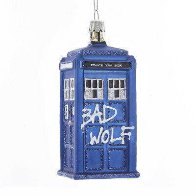 DOCTOR WHO™ Tardis Bad Wolf Glass ORNAMENT BBC TV Classic Sci Fi