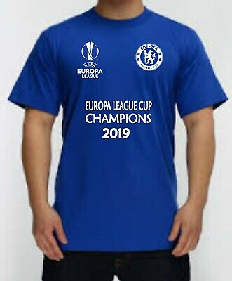 Chelsea Fc Europa League Cup Champions 2019 Tshirt Free Uk Post Kids / Adult Ts