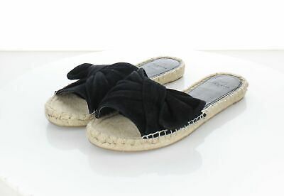 1ae3bd32d1 Y51 Marc Fisher Ltd Valley Black Suede Espadrille Slides Sandals Women's Sz  ...
