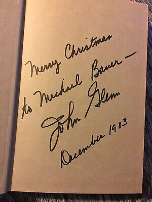 John Glenn NASA  Astronaut Who Would Be President Signed Autograph Book Rare