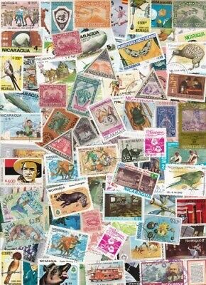 Nicaragua Collection From Old Stamp Hoard 105 Large Off Paper Mint/Used **SALE**