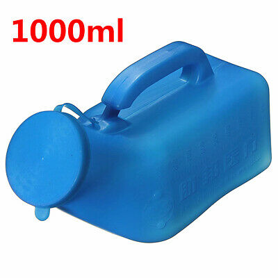 2Pcs Large MALE Urinal Bottle 1000ML Portable Car/Camping/Travel/Bed Urine  !