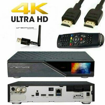 Dreambox DM920 UHD 4K 2x DVB-S2x 1x DVB-C/T2 Tuner + Dreambox 600er Wlan Stick