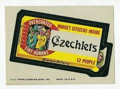 1974 Topps Wacky Packages 9th Series 9 CZECHLETS nm