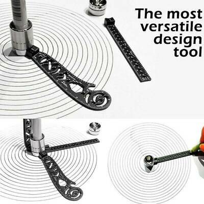 Multifunction Magnetic Drawing Scale Ruler Compasses Protractor MeasuringDrawing