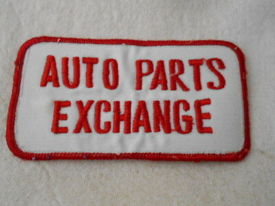 Auto Parts Exchange  Used Embroidered  Sew On Name Patch Tag