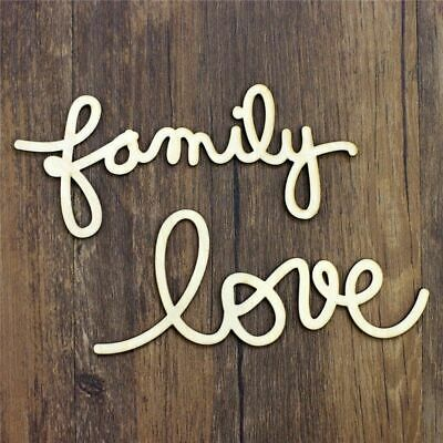 QITAI 24 Pieceslot Simple Wood Letters Alphabet Love Family Home Decor Wooden