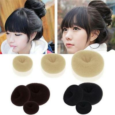 1 pcs Hair Bun Tool Donut Ring Sponge Beauty Former Shaper Hair Styler Maker WO