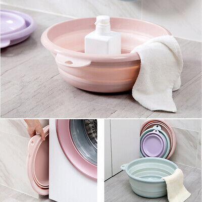 Multifunction Portable Collapsible Wash Basin Foldable Tub for Traveling Camping