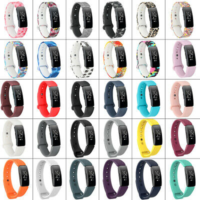 For Fitbit Inspire / Inspire HR Silicone Wristband Watch Band Strap with Clasps