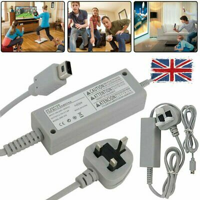 Power Supply Adapter Connector Cable Charger Charging For Nintendo Wii U UK Plug
