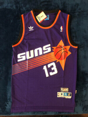 e30729ec1 Phoenix Suns Steve Nash 13 Purple Mens Basketball Throwback Jersey S M L XL  2XL