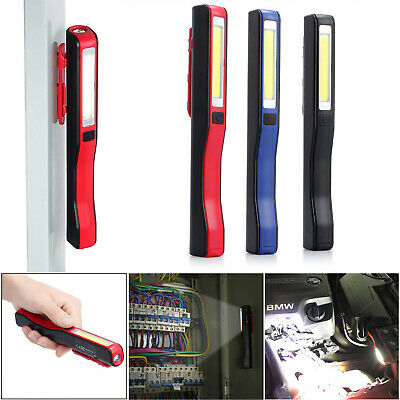 Rechargeable COB +LED Hand Torch Lamp Magnetic Inspection Work Light Flexible UK