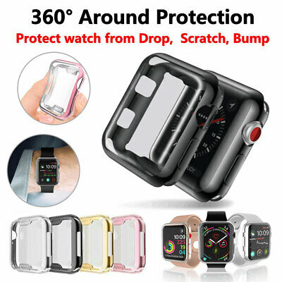 360° Soft TPU Screen Protector Case Cover For Apple Watch Series 1/2/3/4/5