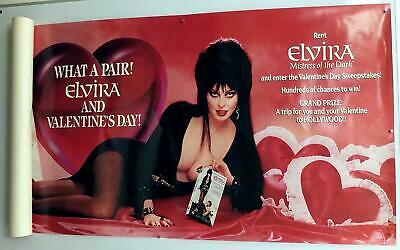 ELVIRA MISTRESS Of THE DARK POSTER Video Tape RENTAL CONTEST 1989 What a Pair!