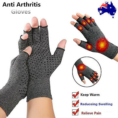 Magnetic Arthritis Gloves Soft Compression Hand Therapy Support Sore Finger AU