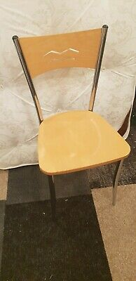 HS Online - Wooden Chair on Chrome Frame Canteen restaurant cheap seating