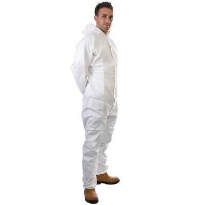 Supertouch Non-Woven Coverall White Disposable Overall Suit 17402 - M