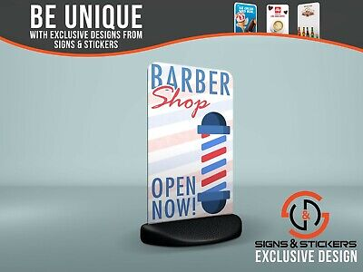 Ecoflex 2 Pavement Sign 'Barber Shop Open Now!' Outdoor Advertising Display