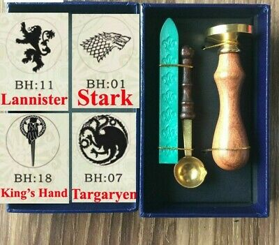 New Hot Game Of Thrones Wax Seal Spoon Gift Box Ancient Seal Retro Stamp Vintage