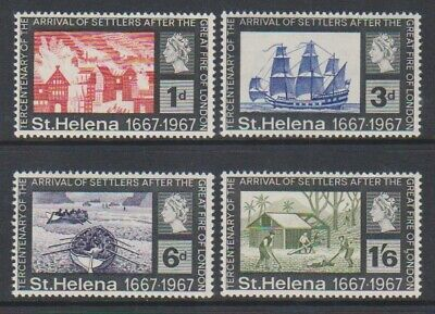 St Helena - 1967, Settlers of Great Fire of London set - MNH - SG 214/17