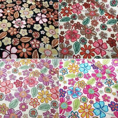 SALE 100% Cotton Fabric Freedom Flowers Tropical Floral and Leaves
