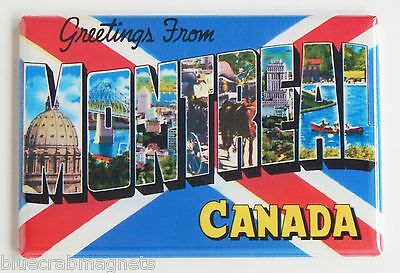 Greetings from Montreal FRIDGE MAGNET (2 x 3 inches) canada travel souvenir