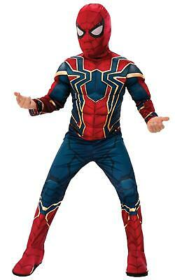Official Avengers Iron Spider Spiderman Deluxe Child Boys Fancy Dress Costume