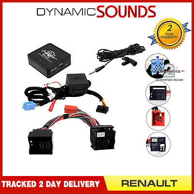 Car Bluetooth Streaming AUX In & Handsfree Kit for Renault Laguna 2008 On