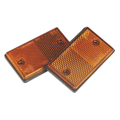 Reflex Reflector Amber Oblong Pack of 2 | SEALEY TB25