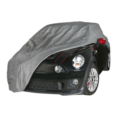 All Seasons Car Cover 3-Layer - Small | SEALEY SCCS