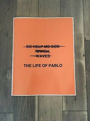 Kanye West The Life Of Pablo Poster Wall art Wall decor
