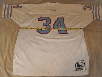 the best attitude 23f7e 01246 NWOT HOUSTON OILERS Mitchell & Ness Earl Campbell #34 ...