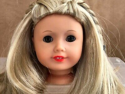 Kailey American Girl doll replacement head with wig blonde hair parts