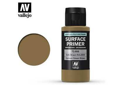 Vallejo 60ml 73606 Acrylic Polyurethane - Primer German Green Brown (RAL 8000)