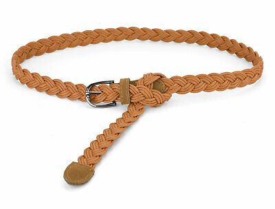 Adjustable Thin Braided Waistband Rope Faux Leather Belts for Women