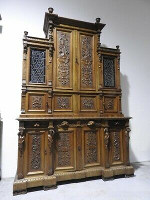 Important Dining Room Furniture Walnut Sideboard Age Early 900 Fine Sculpture
