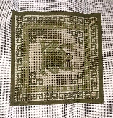 "Needlepoint canvas: Frog pattern 12"" x 12"", threads included"